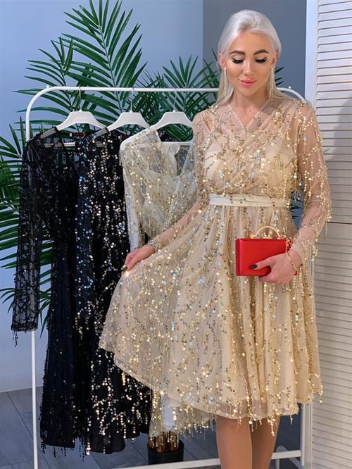 Платье, BS (дождик, кр пайетки) - фото 11996