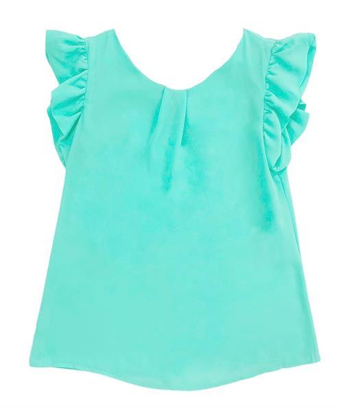 Блуза, 132 (шифон, завязки) - фото 15943