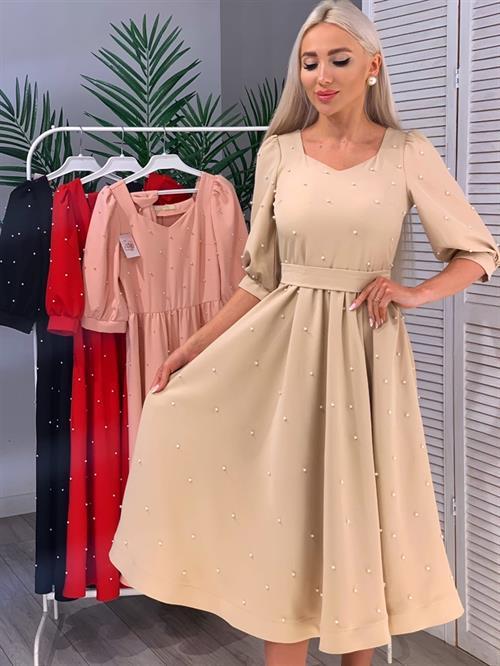 Платье, GM (миди,жемчуг) - фото 17142