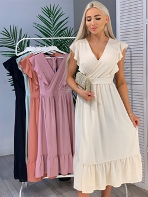 Платье, EF 079 (миди,волан) - фото 17299