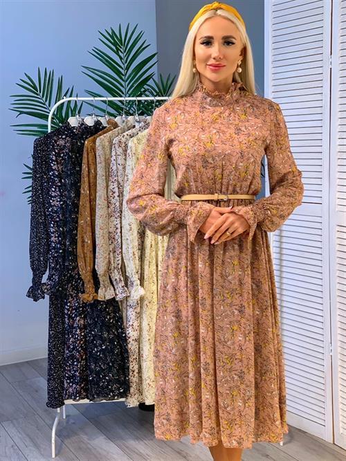 Платье, PN (цв.принт, миди) - фото 19090