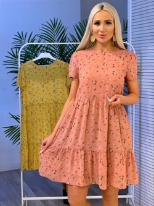 Платье, NR 072 (мини, мелк цв) - фото 23833