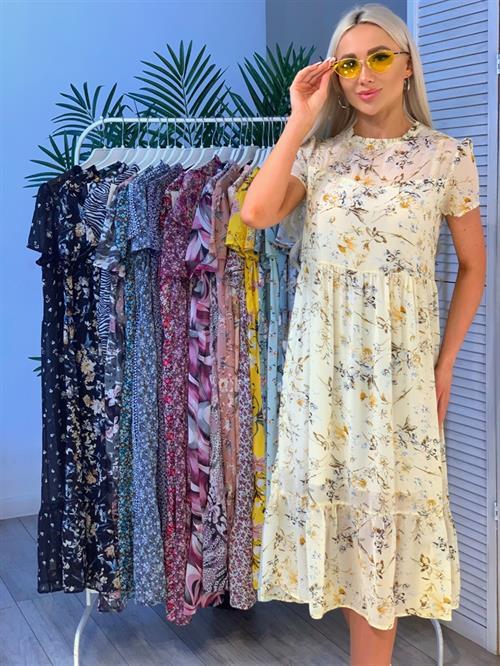 Платье, NR 069 (миди,принт) - фото 23861