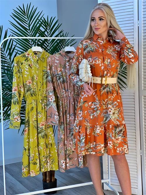 Платье, ISAY (цв.принт, волан) - фото 24938