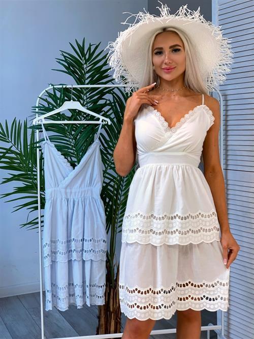 Платье, MD (бретельки,ярус) - фото 28694