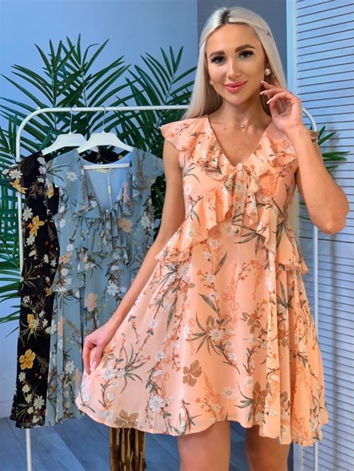 Платье, MNG (волан,цв.принт) - фото 29470