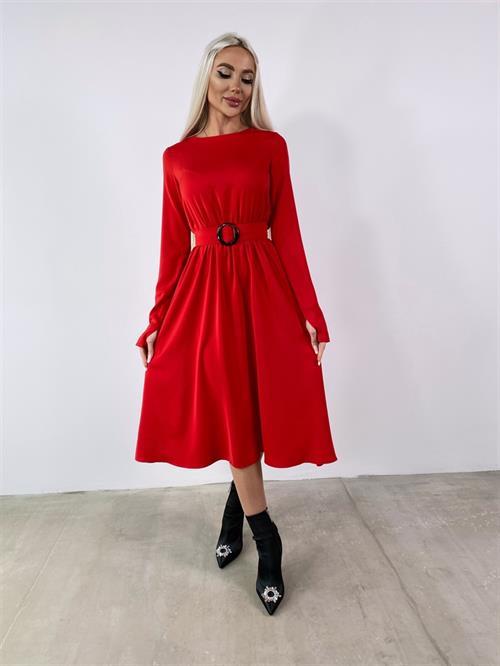 Платье, LS (миди,солнце) - фото 32298