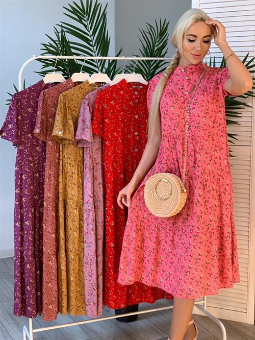 Платье, NR (цв.принт, пуговицы) - фото 4565