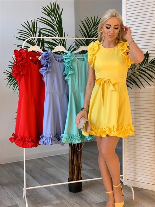 Платье, FN (волан, однотон) - фото 5509