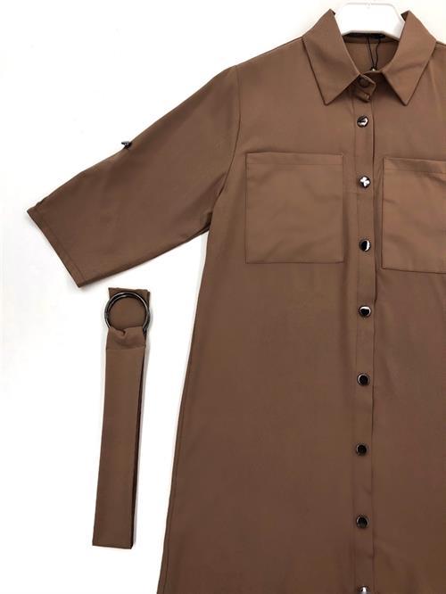 Платье-рубашка, FN 07 (однотон) - фото 6894