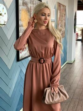 Платье, LS (атлас, миди)