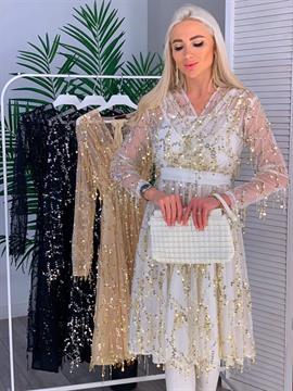 Платье, BS (дождик, кр пайетки)