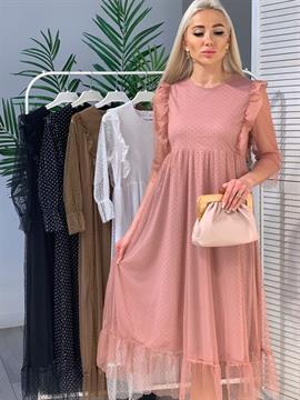 Платье, RA (фатин/горох)