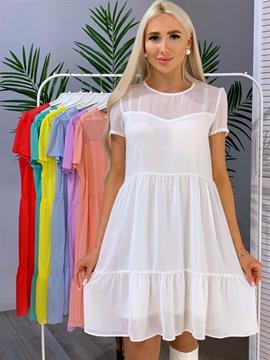 Платье, NR 072 (мини,однотон)