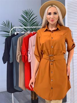 Платье-рубашка, FN 07 (однотон)