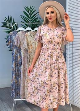 Платье, KW (шифон, завязки)