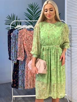 Платье, ST130 (шифон,цв.принт)
