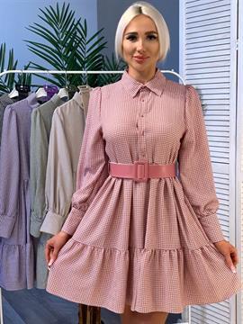 Платье, N&Y 8004 (ярусное,клетка)