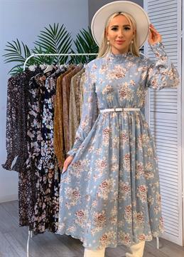 Платье, PN (цв.принт, миди)