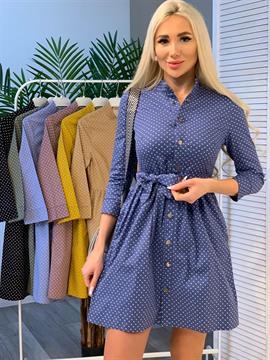 Платье, BN (горох,кнопки)
