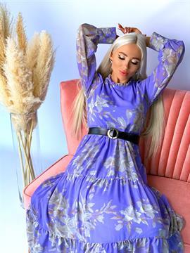 Платье, N&Y 7481 (цв.принт, ярусное)