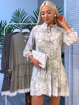 Платье, DM (ярусное, кружево)