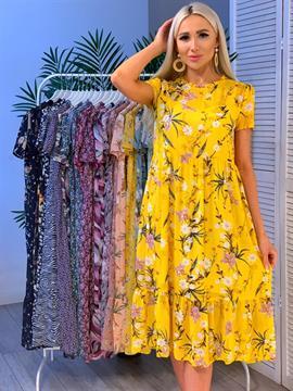 Платье, NR 069 (миди,принт)