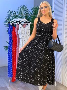 Платье, NR 042 (горох,миди)