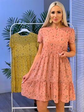 Платье, NR 072 (мини, мелк цв)