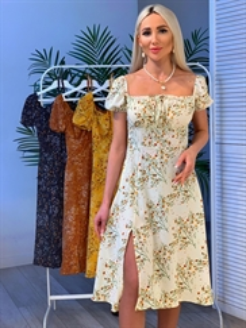 Платье, FM MD (цв.принт, откр.плечи)