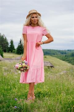 Платье, NR 069 (миди,однотон)