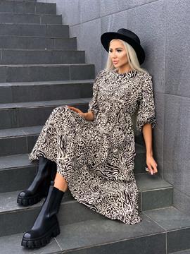 Платье, N&Y 8053 (принт,миди)