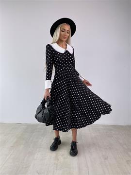 Платье, MH (бел.воротник,горох)