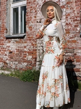 Платье, RN 5033 (цв.принт, миди)