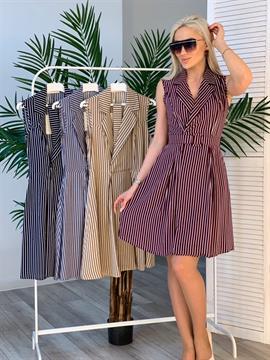 Платье, FN (полоска, пояс)